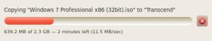 Kecepatan Transfer Data Ukuran 2,3 GB di Ubuntu 10.04
