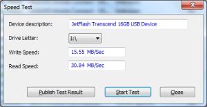 SpeedTest Usbdeview