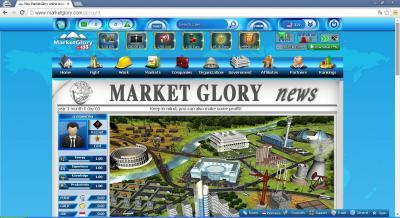 Tampilan Halaman Awal MarketGlory